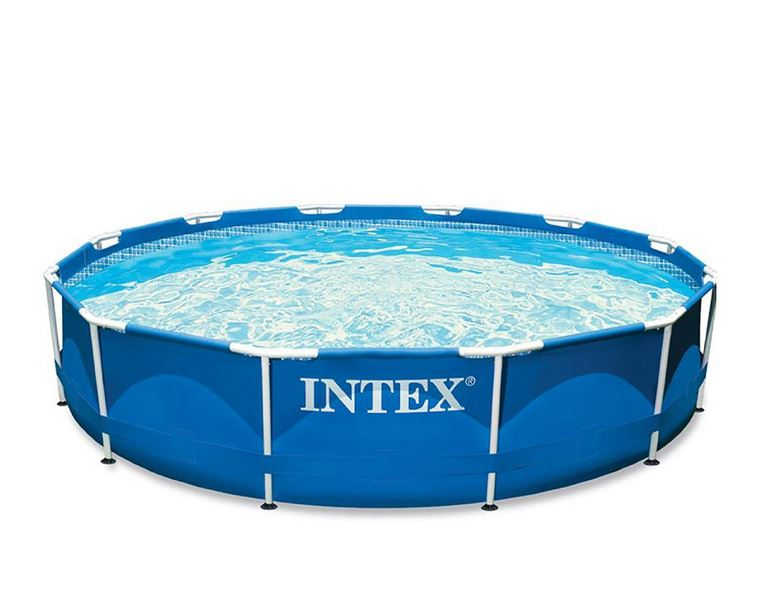 intex metal frame pool komplett set schwimmingpool rund 366 x 76 cm ebay. Black Bedroom Furniture Sets. Home Design Ideas