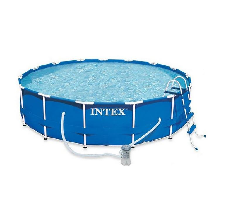 intex metal frame pool komplett set schwimmingpool rund 457 x 122 cm ebay. Black Bedroom Furniture Sets. Home Design Ideas