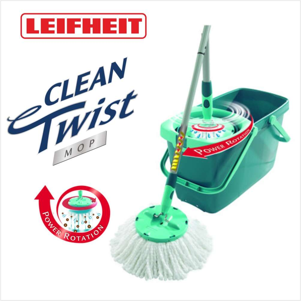 leifheit leifheit 52019 set clean twist system mop wischmop ebay. Black Bedroom Furniture Sets. Home Design Ideas
