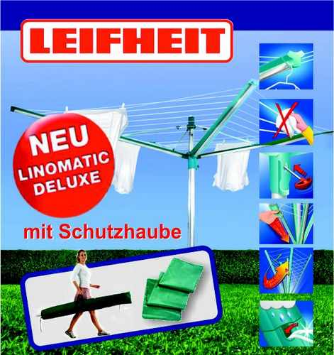 leifheit w schespinne linomatic deluxe 400 500 600 ebay. Black Bedroom Furniture Sets. Home Design Ideas