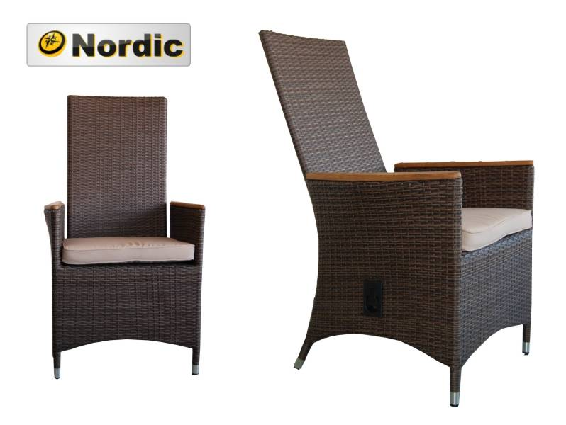 korbsessel elba mit teak kissen verstellbarer sessel polyrattan wicker ebay. Black Bedroom Furniture Sets. Home Design Ideas