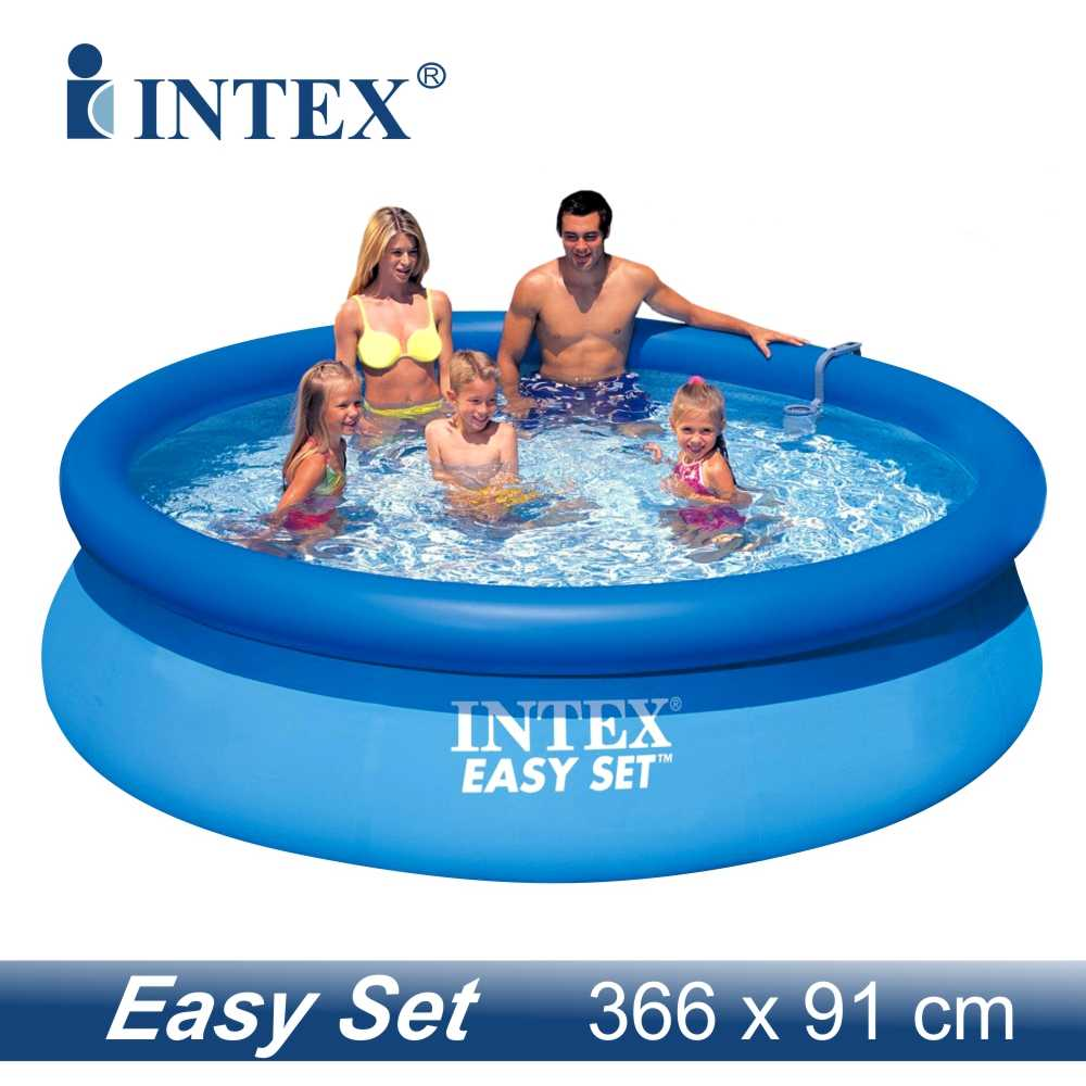 intex 28144 easy set pool rund ca 366 x 91 cm liter ebay. Black Bedroom Furniture Sets. Home Design Ideas